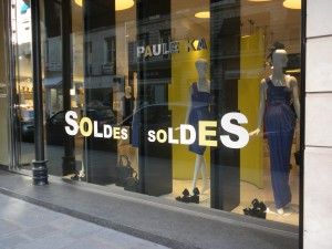 Сезон скидок и распродаж в Париже – лето 2011